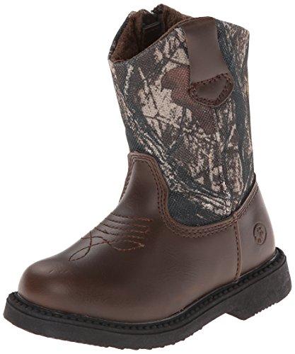 Northside Partner Cowboy Boot, Brown Camo, 12 M US Little Kid