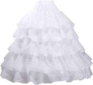 iphonepassteCK Crinoline Petticoat Underskirt 6 Hoops Skirt Ball Gown Skirt Trumpet Slip for Wedding Dress