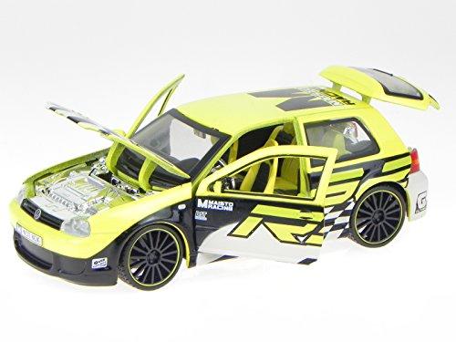 VW Golf 4 R32 Tuning gelb Modellauto 31043 Maisto 1:24