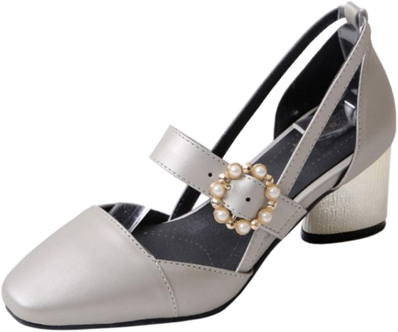 AicciAizzi Women Closed Toe Block Heels Pumps shoes