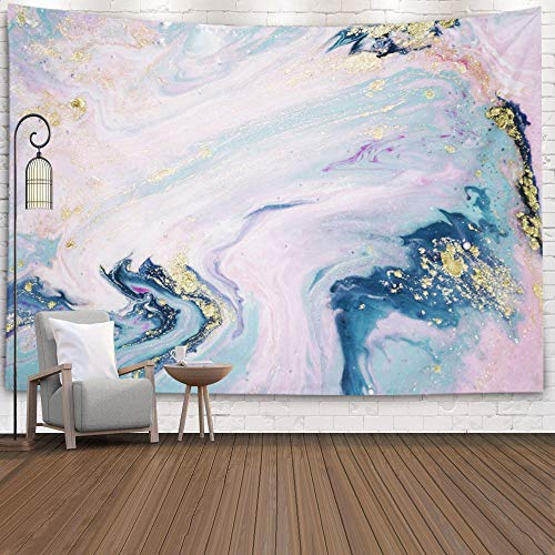 Pamime up Tapestry,Home Decor Tapestry Pastel Colors Natural Luxury Effect Ancient Oriental Drawing Technique Marble Texture Dorm Room Bedroom Living Room 80X60 Inches(200X150Cm) Inhouse,Pink Blue