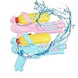 2 Packs Water Gun Pistolas de Agua para niños Chorro De Agua Piscina con 150 ML de Alta Capacidad, Regalos de Water Pistol para niños Adultos Fiesta de Lucha contra el Agua en la Playa