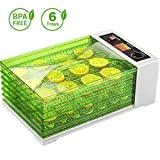 Food Dehydrator Machine Fruit Dryer, Sancusto Large 18L 6 Layers 30-70°C Adjustable Temperature