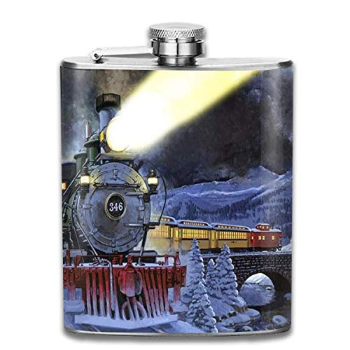 Flask Steam Trains Kleine Duurzame RVS Kleine Hip Flask Mens Lekvrije Vlagon Outdoor Draagbare Flask voor Alcohol Whiskey Rum en Vodka