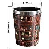 Mecotech Papierkorb Büro Vintage Mülltonne Mülleimer Abfalleimer Papierkörbe für Büro/Badezimmer/küche/Schlafzimmer, 31.5 x 24 x 20 cm (12L) - 2