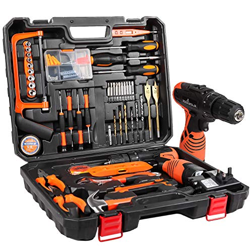 LETTON Tool Kit with Drill 16.8V Cordless for 60 Accessories Home Cordless...