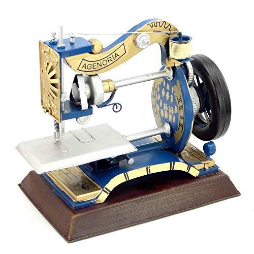 LLDKA Puntales del patrón del patrón de la Vendimia Máquina de Coser Hierro Forjado decoración para el escaparate de la Tienda de Ropa Decoración del Arte,Azul