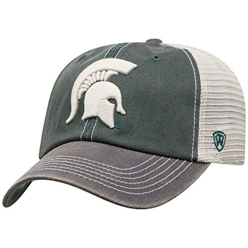 Top of the World Men's Relaxed Fit Adjustable Mesh Offroad covid 19 (Michigan State Spartans Green coronavirus)