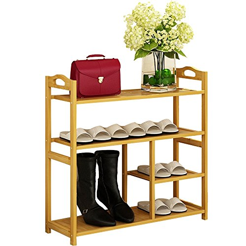 LSX-Shoe rek Bamboe heeft 4 lagen/5 lagen stofdicht Duurzame Multi-verdiepingen Creatieve Mode Groen En Laarzen 4 Maten oyo
