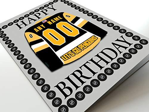 NHL Ice Hockey Jersey Kühlschrank Magnet Geburtstag Karten–NHL Eastern Conference–Jeder Name, beliebige, jedes Team., Pittsburgh Penguins NHL Fridge Magnet Card