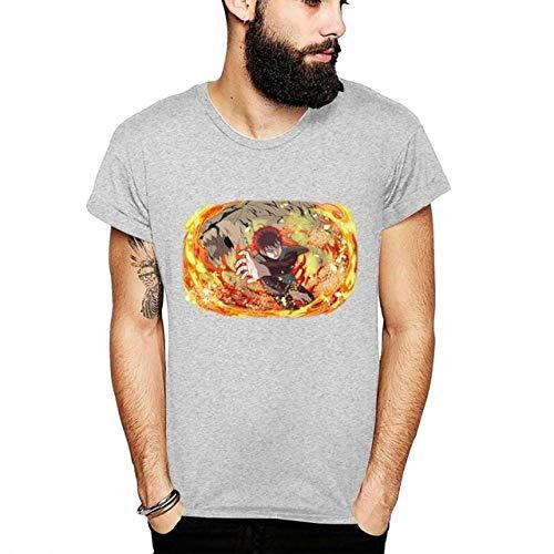 TSHIMEN Camisetas Hombre y niño Iguales Naruto Camiseta de Anime Personalizada con Estampado gráfico Camiseta Homme Unisex Hombre 3D Imprimir Camiseta Gris XL