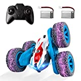 Remote Control Car, MAKINO RC Cars Stunt Car Toy Double Sided 360° Rotation with Headlights 2.4Ghz 4WD Electric Toy Car Gift for Kids Boys Girls (All Batteries Included)