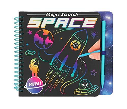 Depesche 11404 Malbuch Magic Scratch Book, Space, ca. 15,3 x 13,3 x 1,8 cm