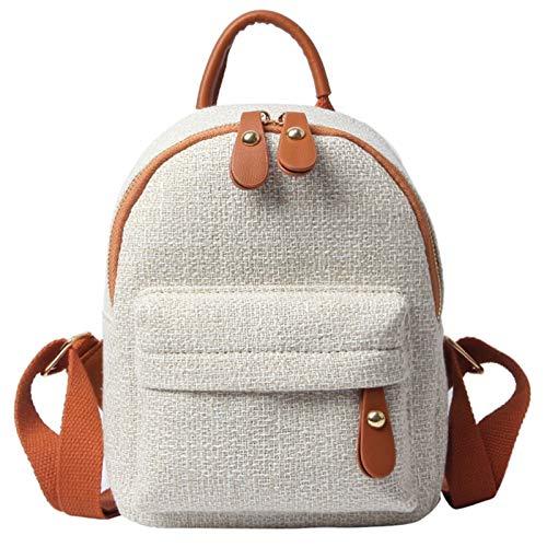 T-ara Frauen Nette Rucksack Minirocks Casual Tasche Mädchen wenig for Damen Umhängetaschen Unverzichtbar für Reisen im Freien (Color : Brown, Size : 19x13x23cm)
