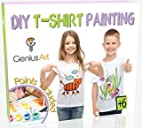 Genius Art DIY T-Shirt Painting - Girls and Boys Arts and Crafts Toys...