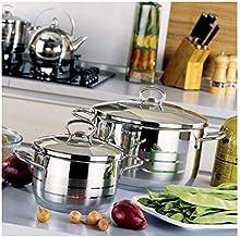 طقم قدور الطبخ كوركماز استرا - 6 قطع - A1803
