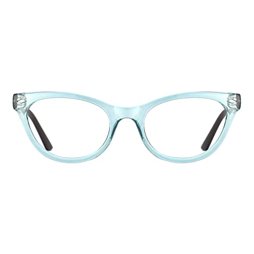 691f904688 TIJN Super Inspired Mod Fashion Cat Eye Glasses Clear Color Translucent  Eyewear Frame