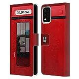 Head Case Designs K8 J'aime Londres Coque en Cuir à Portefeuille Compatible avec LG K42 / K52 / K62