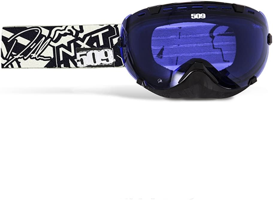 509 Aviator Ice Goggle with Blue Mirror Blue Tint Lens