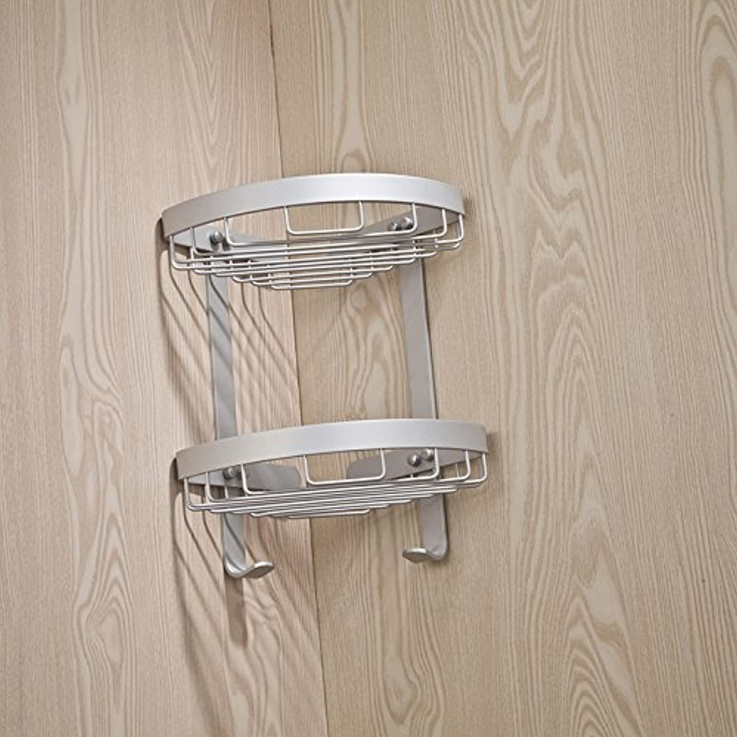 Space aluminum racks corner baskets tripod hanging baskets bathroom rack