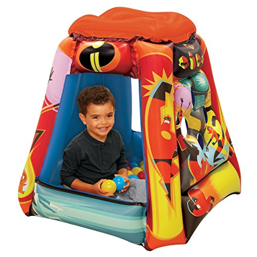"""The Incredibles 2 Ball Pit, 1 Inflatable & 20 Sof-Flex Balls, Red, 37""""W x 37""""D x 34""""H"""