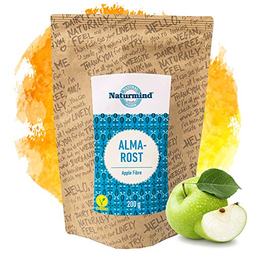 Naturmind Apfelfaser 200g | Natürlicher Ballaststoff | Glutenfrei Apfelmehl | Apfel Faser | Ballaststoffreich | Vegan | Rohkostqualität | Allergenfrei | Ideal für Brot & Backwaren mit längerer Frische