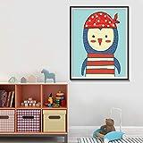 Pintura sin Marco Morsa jardín de Infantes decoración de la habitación de los niños Cartel Animal Marino Acuarela Lienzo Animal Arte de la paredZGQ3609 40X60cm