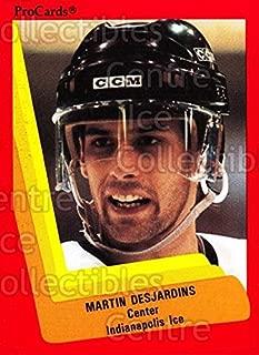 (CI) Martin Desjardins Hockey Card 1990-91 ProCards AHL IHL 410 Martin Desjardins