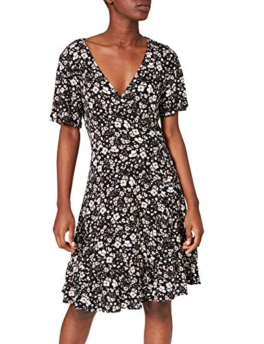 ESPRIT Damen 031EE1E319 Kleid, 001/BLACK, L