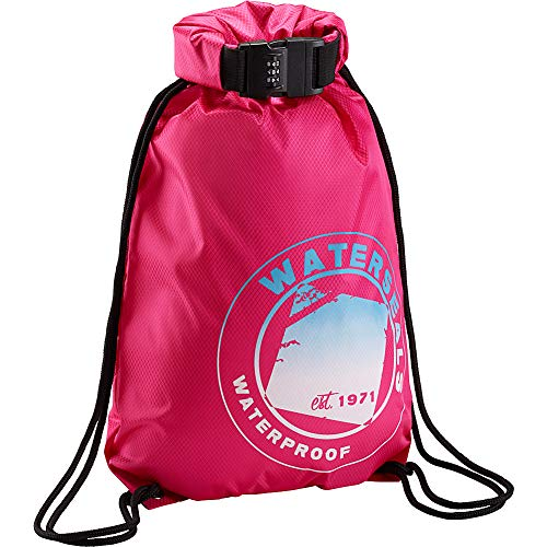 WaterSeals Anti-Theft Combination Lock + Ripstop Waterproof Material to Protect Wallet iPhone + Valuables at The Beach Pool Sports Camping, Pink