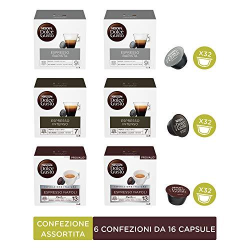 NESCAFÉ Dolce Gusto Confezione Assortita Caffè Espresso, 6 Confezioni da 16 Capsule (96 Capsule)