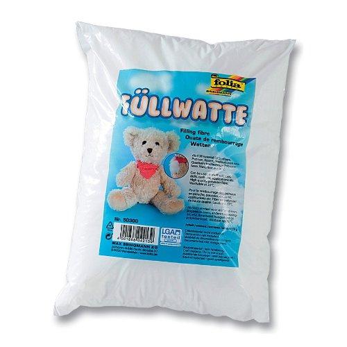 folia 50300 Füllwatte, Füllmaterial für Stofftiere, Kissen & Puppen, weiß (50 g im Beutel)