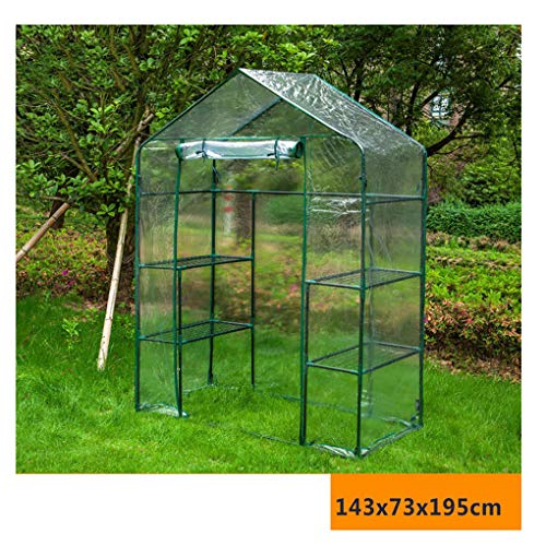 QI-CHE-YI Plant Greenhouse Greenhouse Insulation Cover Outdoor Gardening Flower Shed Warm Shed Succulent Flower Room Flower Stand,M 143x73x195cm (transparent)