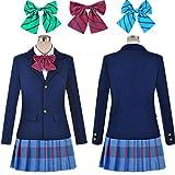 N-brand Anime LoveLive Cosplay Costume Kousaka Honoka Minami Kotori Ayase Eli Tojo Nozomi Nishikino Maki School Uniform