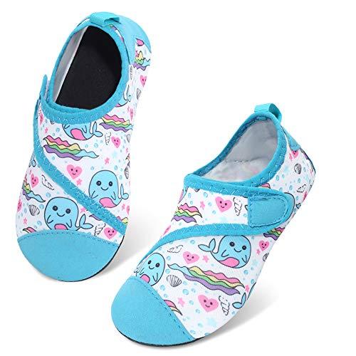 JIASUQI - Calcetines de agua para niños y niñas, secado rápido, para la playa o la piscina, color Azul, talla 26/27 EU