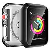 LϟK 2 Pack Funda Protector de Pantalla de Cristal Vidrio Templado Incorporado para Apple Watch 38mm Series 3 2 1 - Estuche Protector General para PC Duro HD Claro Ultra-Thin Carcasa para iWatch 38mm