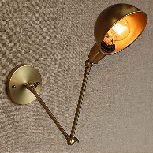E27-Wall Lamp Creative Double Adjustment Wall Lamp Loft Retro Industrial Long Arm Wall Lamp Restaurant Hotel Cafe Decorative Wall Lamp, 21 +21 cm (No E27 Bulb)