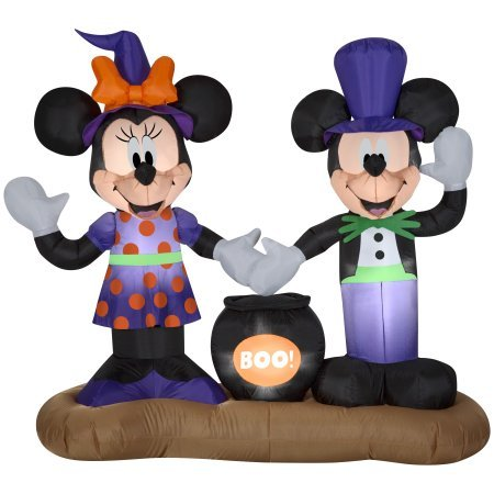 Mickey and Minnie Mouse Halloween Inflatables with Cauldron