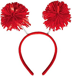 Amscan Pom Pom Headbopper, Party Accessory, Red