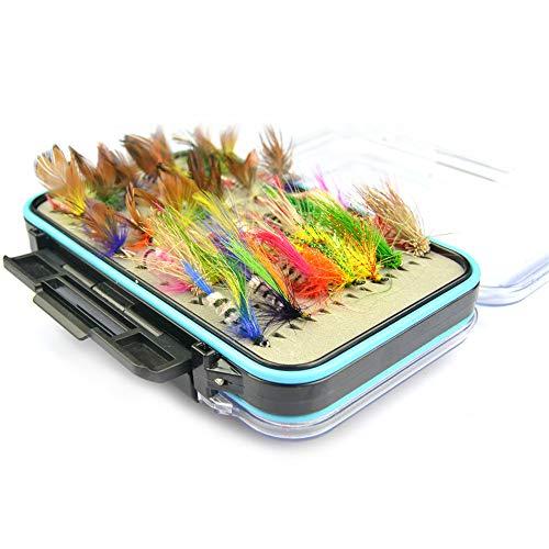 JasCherry Moscas de Pesca Moscas Artificiales Señuelos de Pesca con Mosca con...