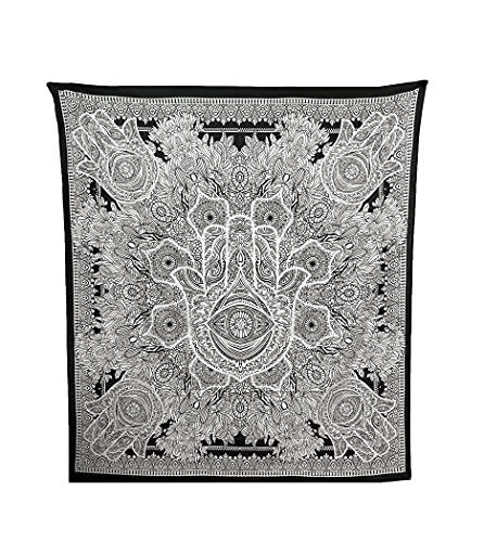 Acomoda Textil - Mandala Bohemio, Ecológico de Playa, Jardín, Piscina 210x240. Mandala Tapiz Decorativo Grande y Resistente para Pared. (Mano de Fátima)