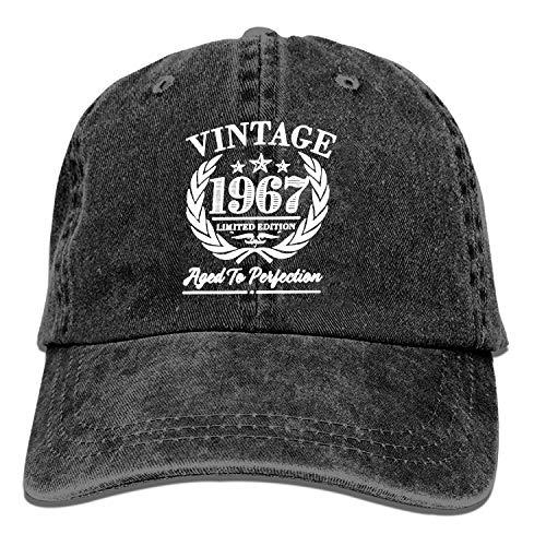 XCOZU Gorra de béisbol negra 1967 Vintage Trucker Sombrero de algodón lavado...