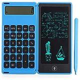 Bobotron Rechner Notepad Tableta de escritura LCD de 6 pulgadas con lápiz capacitivo, función de bloqueo de botones, azul