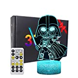 HutaoLi 3D Illusion Night Light for Kids, 16 Colors Changing 3D lamp with Timing Remote & Smart Touch LED Night Lamp for Room Decor, Christmas and Birthday Gifts forBoy and Girl