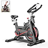 AJUMKER Indoor Exercise Bike Spinning Bike Adjustable Handlebars & Seat Gym Home Workout