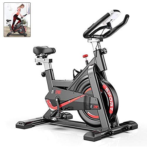 AJUMKER Bicicleta de ejercicios para interiores Manillar ajustable y Asiento para gimnasio en casa para ejercicios con todo incluido Fitness Bike Función de frecuencia cardíaca, pantalla LCD