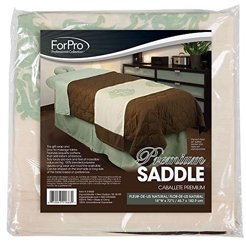 For Pro Premium Saddle Fleur-de-lis Natural Massage Linen