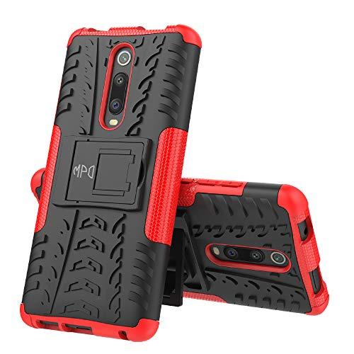 Max Power Digital Funda para Xiaomi Mi 9T / Mi 9T Pro con Soporte Heavy Duty Híbrida 2 en 1 Carcasa Dura Resistente Antigolpes (Xiaomi Mi 9T / Mi 9T Pro, Rojo)