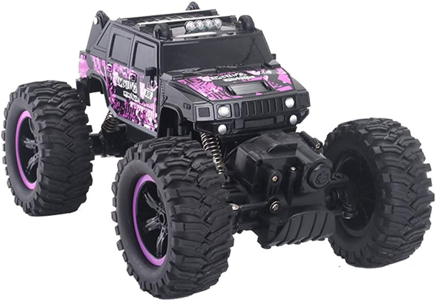 1 14 Remote Control Fourwheel Drive Offroad Model Car, Boy And Girl Gift Wireless Control Super Sports Car Electric Mini Lithium Battery Racing ( color   Black )