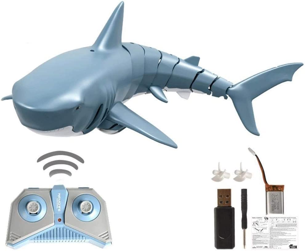 Moerc 2.4G Highly Department store Simulated Simulation Control Online limited product Remote Boat Shark
